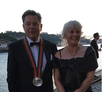 Cavaleiro Per Stenaa og frue før dinner
