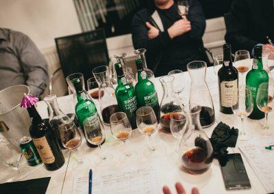 Krohn smagning flasker